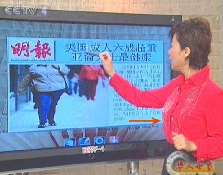 CCTV.com-央视女主持叶迎春胸部走光 网友疑
