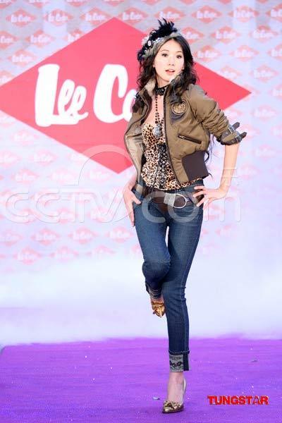 林志玲代言牛仔裤品牌