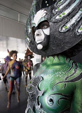 莫斯科举行2008文身和人体艺术展[附图]