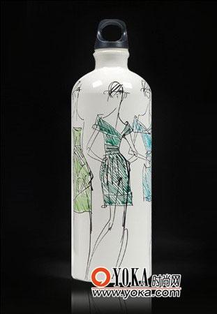 大牌设计师手绘时尚环保水瓶