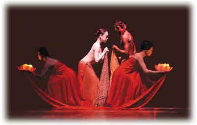 现代舞《醮》舞台照