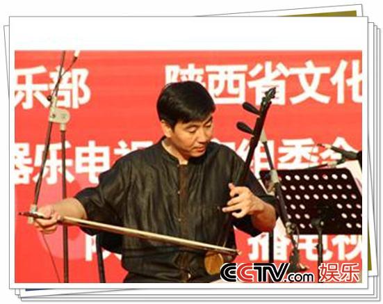 板胡独奏视频_CCTV.com-大赛露演西安站图片(八):西安板胡演奏家沈诚